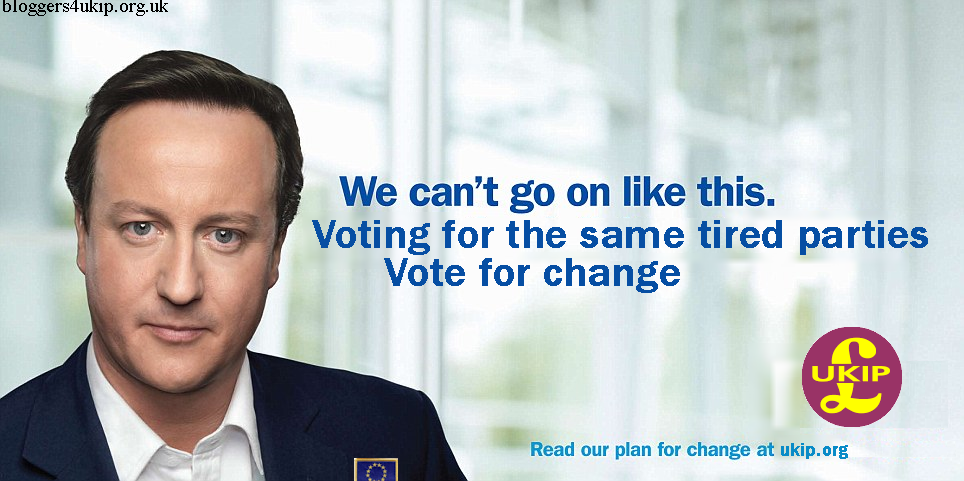 Vote for change - don't vote New Labour or Blue Labour, vote UKIP!