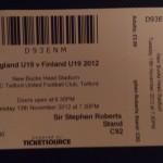England -v- Finland U19's Ticket