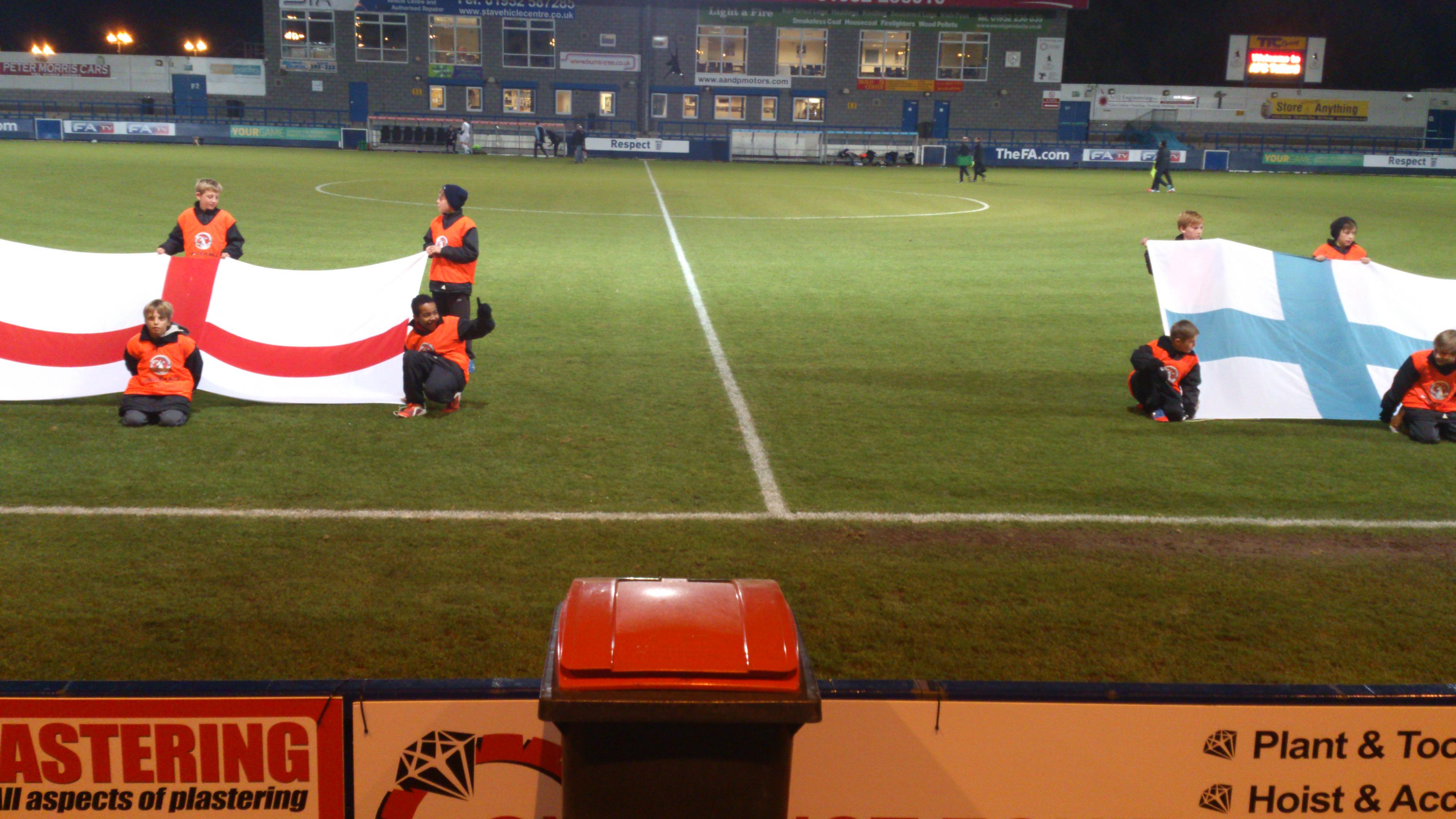 England -v- Finland U19's at AFC Telford United