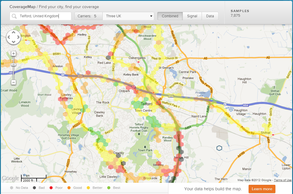 Rootmetrics Coverage Map Telford