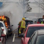 Car on fire at Forge Retail Park, Telford