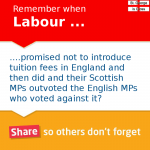 Labour Tuition Fee Hypocrisy Reminder