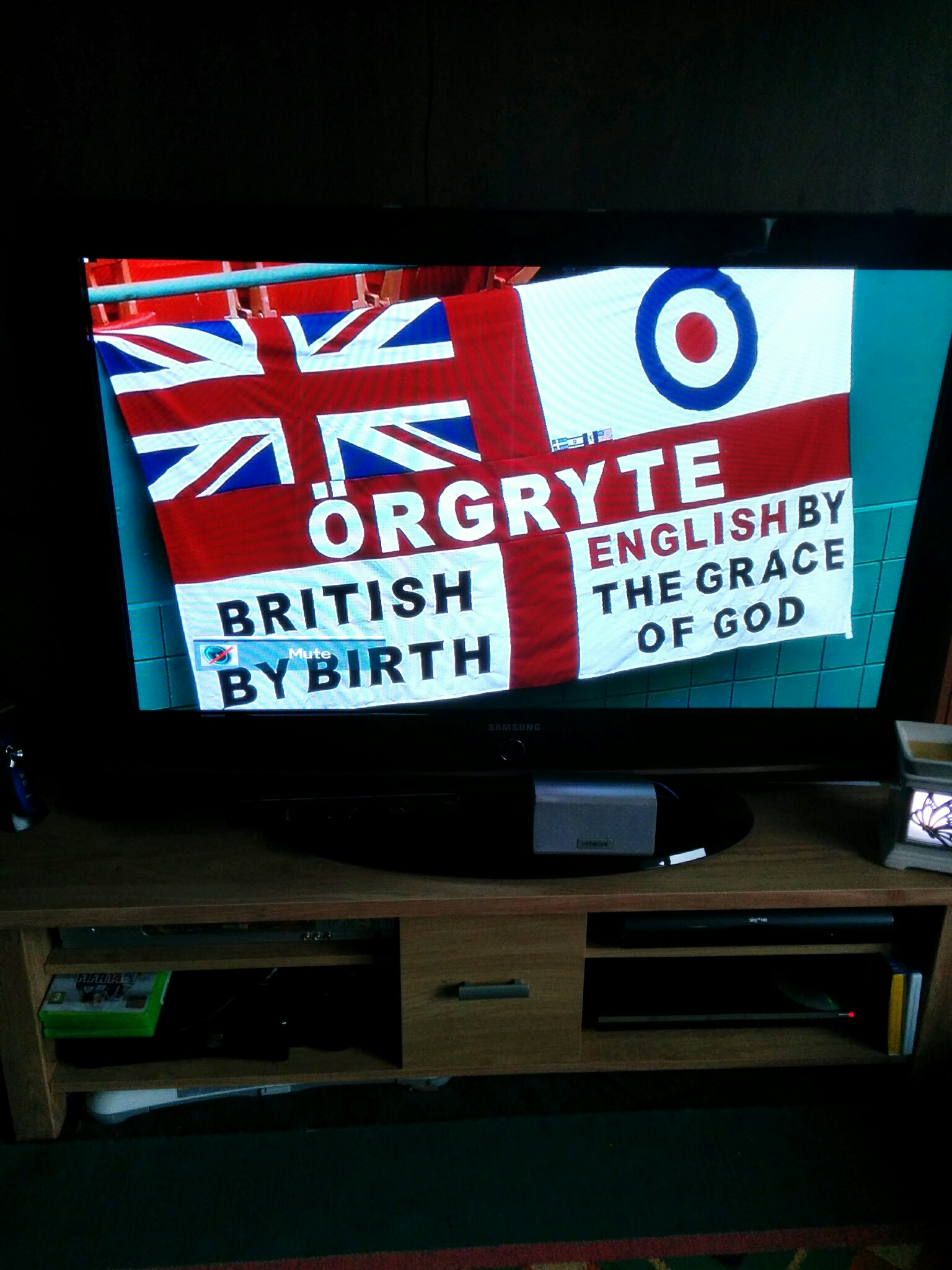 ITV British flag at England game