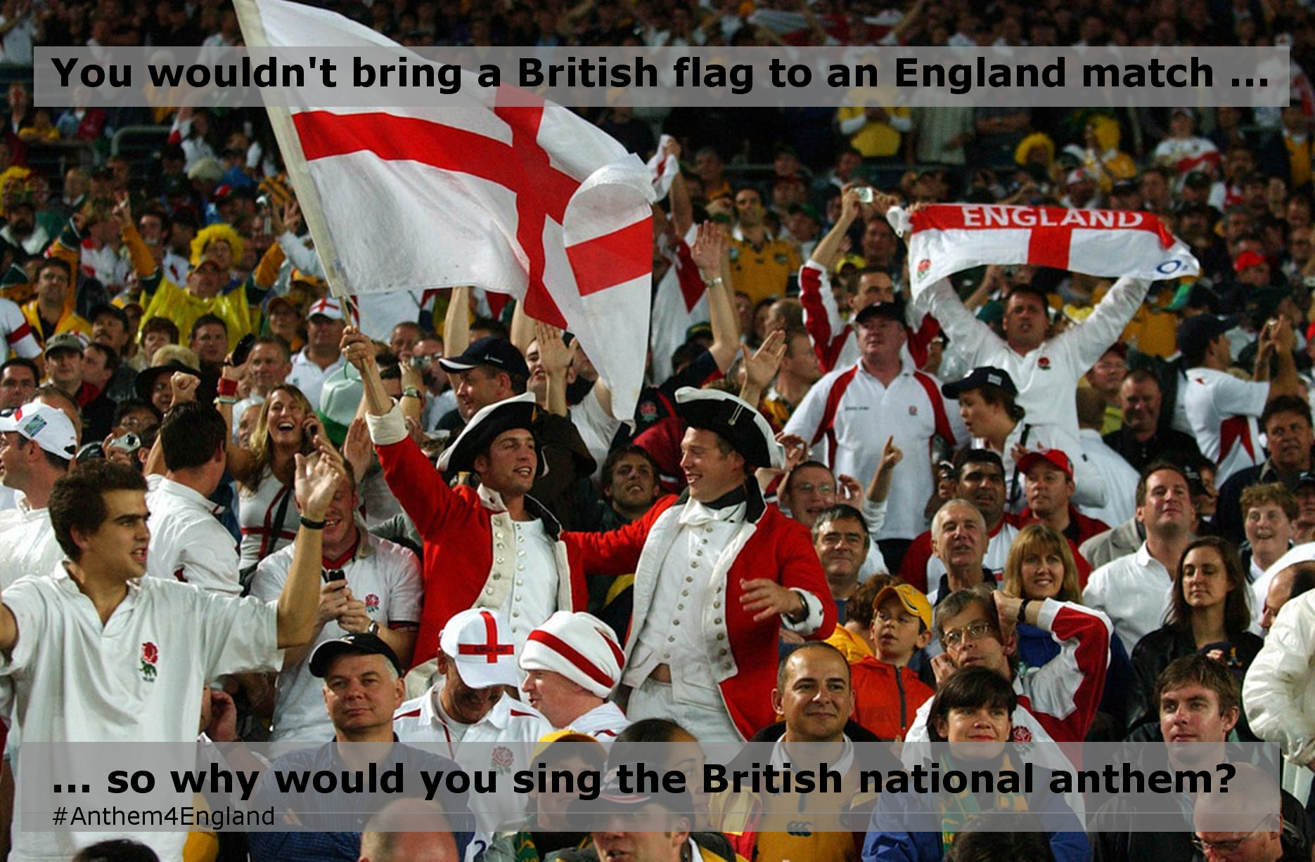You wouldn't take a British flag to an England match